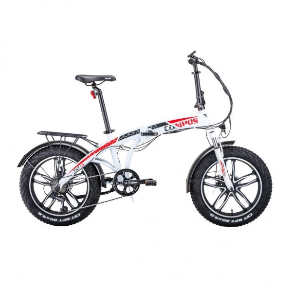 Bicicleta electrica pliabila Hecht Compos XL Alb HECHT - 1